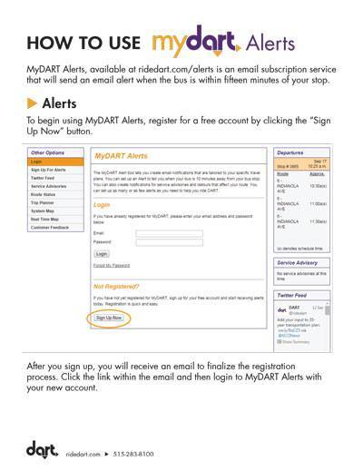 How to Use MyDART Alerts Guide Cover