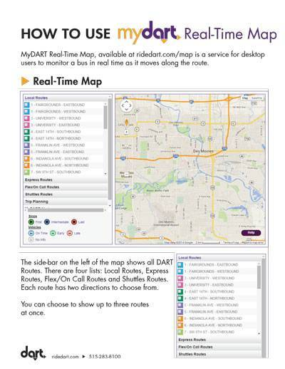 How to Use MyDART Real-Time Map Guide Cover