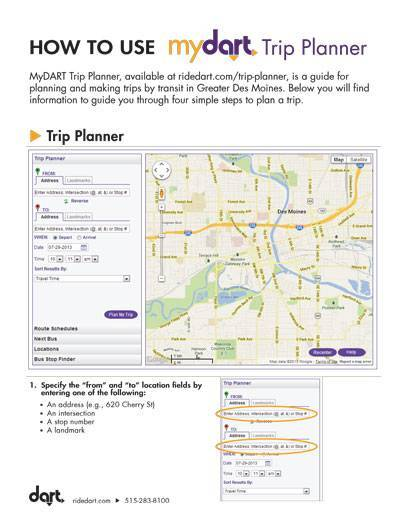 How to Use MyDART Trip Planner Guide Cover
