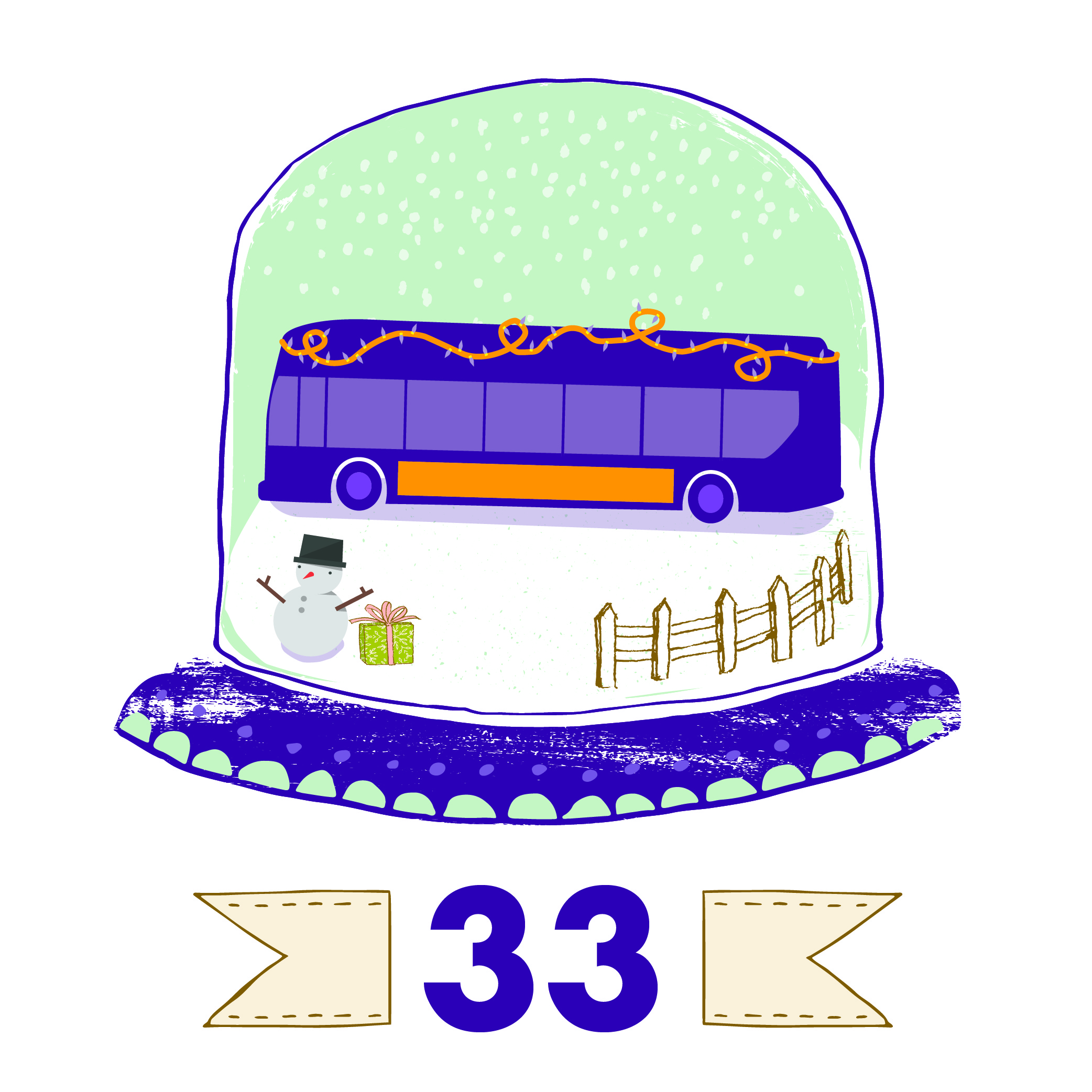infographic symbolizing 33 routes