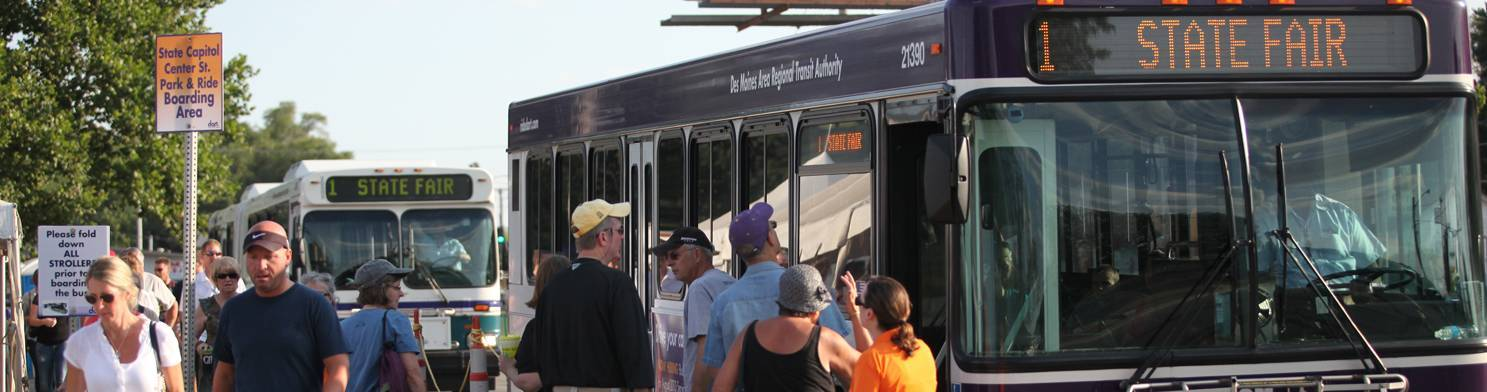 Park and ride DART to the state fair