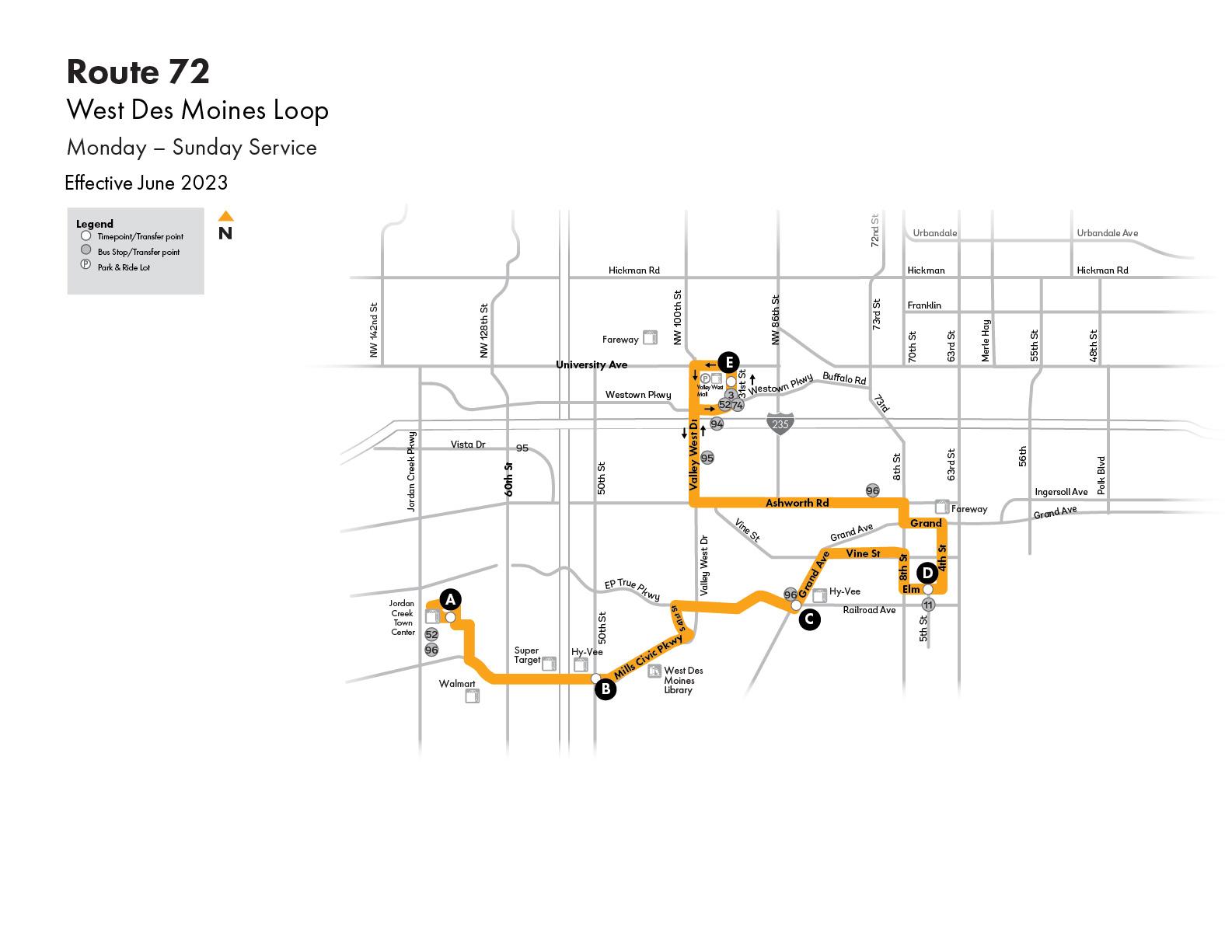 DART Flex Route 72 - West Des Moines/Clive