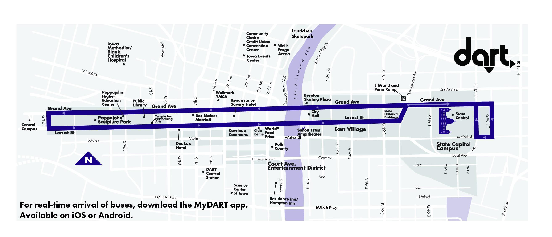 DART Shuttle - D-Line Shuttle Map
